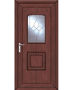 Fareham Crystal Gem uPVC High Security Door In Rosewood
