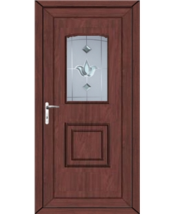 Fareham Georgian Bevel Blast uPVC High Security Door In Rosewood