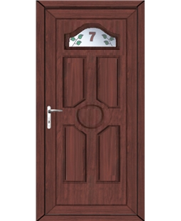 Ventor House No uPVC High Security Door In Rosewood