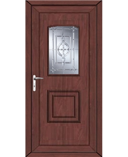 Fareham New Platinum uPVC High Security Door In Rosewood
