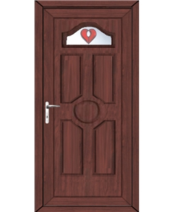 Ventor Red Jewel uPVC High Security Door In Rosewood