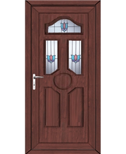 Ventor Renaissance uPVC High Security Door In Rosewood