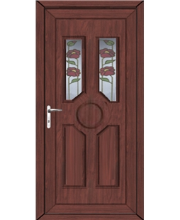 Queensborough Summer uPVC High Security Door In Rosewood