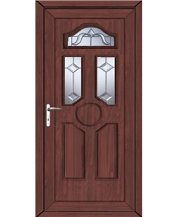 Ventor Victorian Bevel uPVC High Security Door In Rosewood