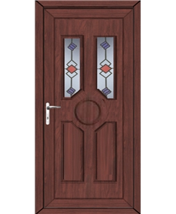 Queensborough Victorian Twist uPVC High Security Door  In Rosewood