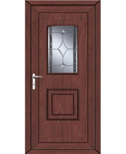 Fareham Bevel Border uPVC High Security Door In Rosewood