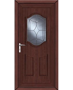 Guilford Centre Bevel uPVC High Security Door In Rosewood