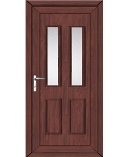 Irvine Glazed uPVC High Security Back Door In Rosewood