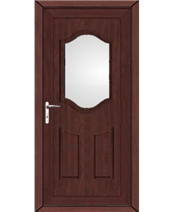 Guildford Clear Glazed uPVC Door In Rosewood