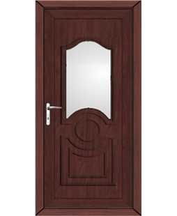 Johnstone Glazed uPVC High Security Door In Rosewood