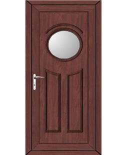 Leeds Glazed uPVC High Security Door In Rosewood