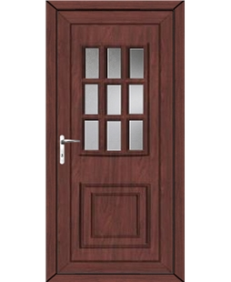 Huddersfield Glazed uPVC High Security Door In Rosewood