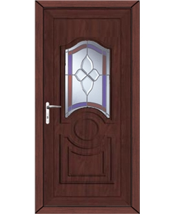 Johnstone Crystal Gem uPVC High Security Door In Rosewood