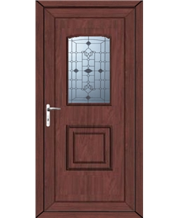 Fareham Georgian Blast uPVC High Security Door In Rosewood