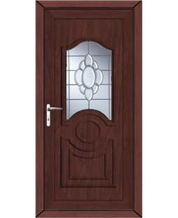 Johnstone Glue Chip Bevel uPVC High Security Door In Rosewood