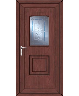 Fareham New Topaz uPVC High Security Door In Rosewood