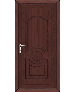 Johnstone Solid uPVC High Security Door In Rosewood