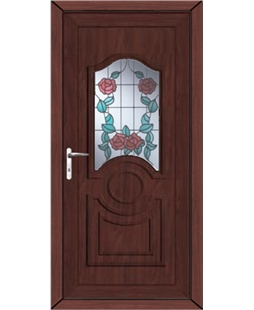 Johnstone Summer Rose uPVC High Security Door In Rosewood