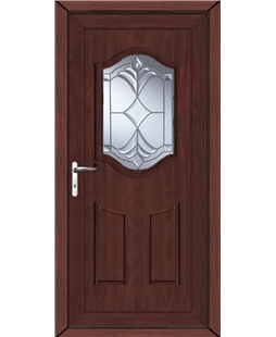 Guilford York Master uPVC High Security Door In Rosewood