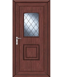 Fareham Diamond Lead uPVC High Security Door In Rosewood