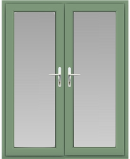 uPVC French Door in Chartwell Green