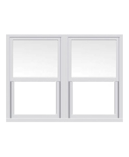 Surrey uPVC Sliding Sash Window in White
