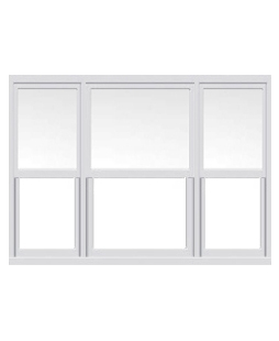 Tyne and Wear uPVC Sliding Sash Window in White